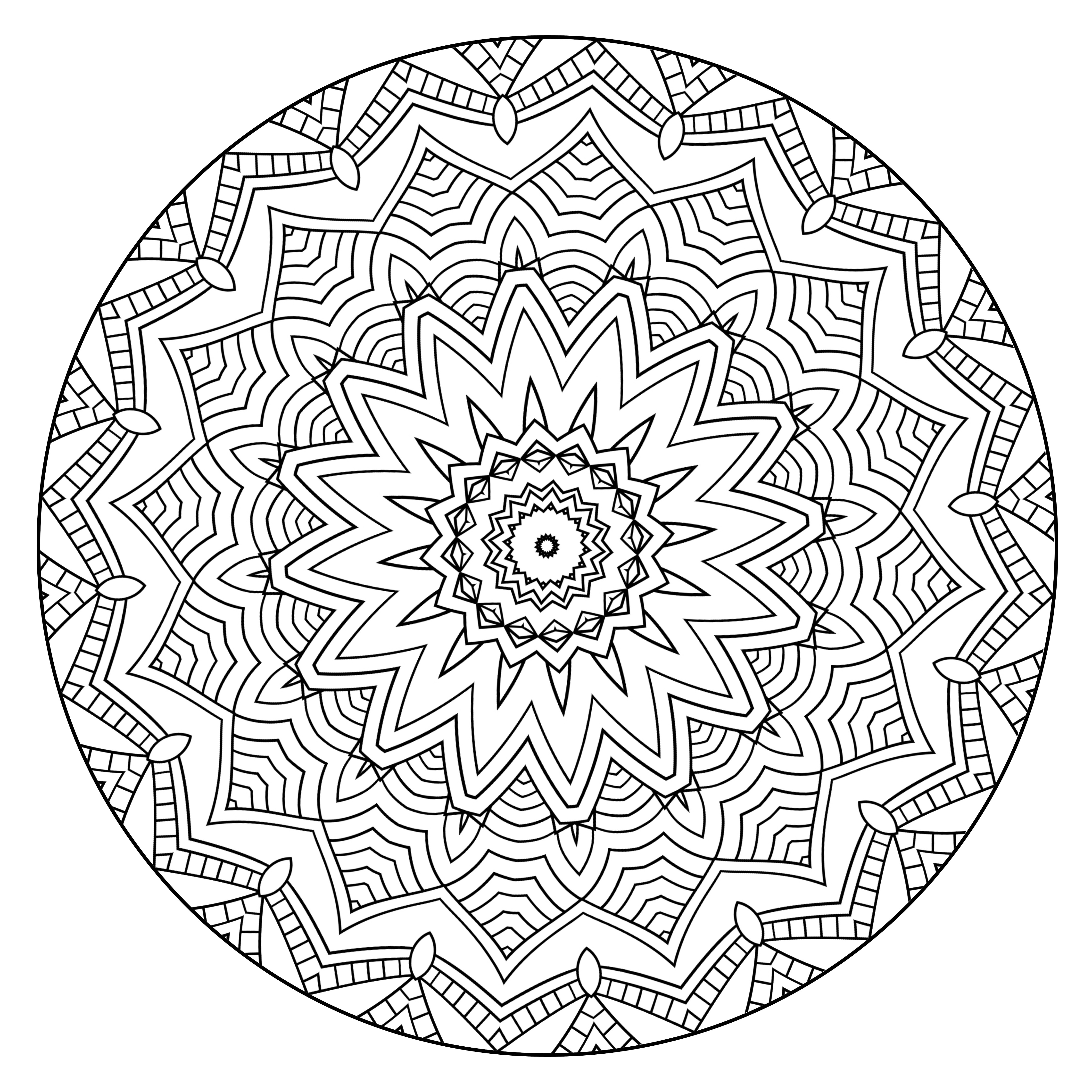 what are mandala coloring pages